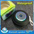New Portable Mini Subwoofer Shower Waterproof 2.0 Wireless Bluetooth FM TF Card LED Speaker Receive Call Music Suction Phone Mic