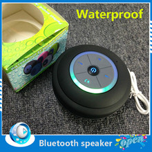Nueva Portátil Mini Subwoofer Ducha Impermeable 2.0 Inalámbrico Bluetooth FM TF Tarjeta Altavoz LED Recibir Call Music Succión Teléfono Mic(China (Mainland))