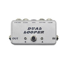 New A/B guitar looper pedal switch ture bypass effects pedal loop switch full metal footswitch pedal handmade free shipping