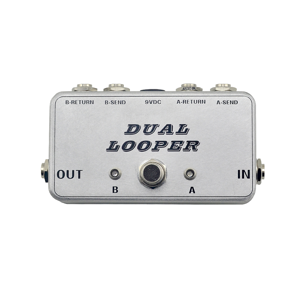 New A/B guitar looper pedal switch ture bypass effects pedal loop switch full metal footswitch pedal handmade free shipping free shipping phrase loop core loop pedal block effect drum machine circular pedal