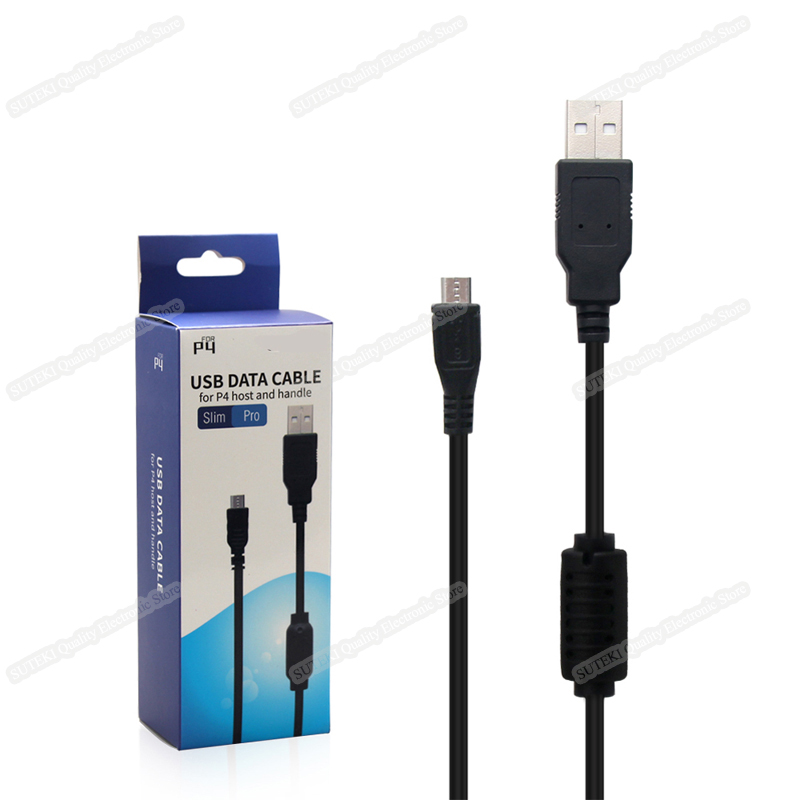 Micro Charging USB Data Cable Charger For Sony PS4 Slim Game Controller 2 In 1 High Quality