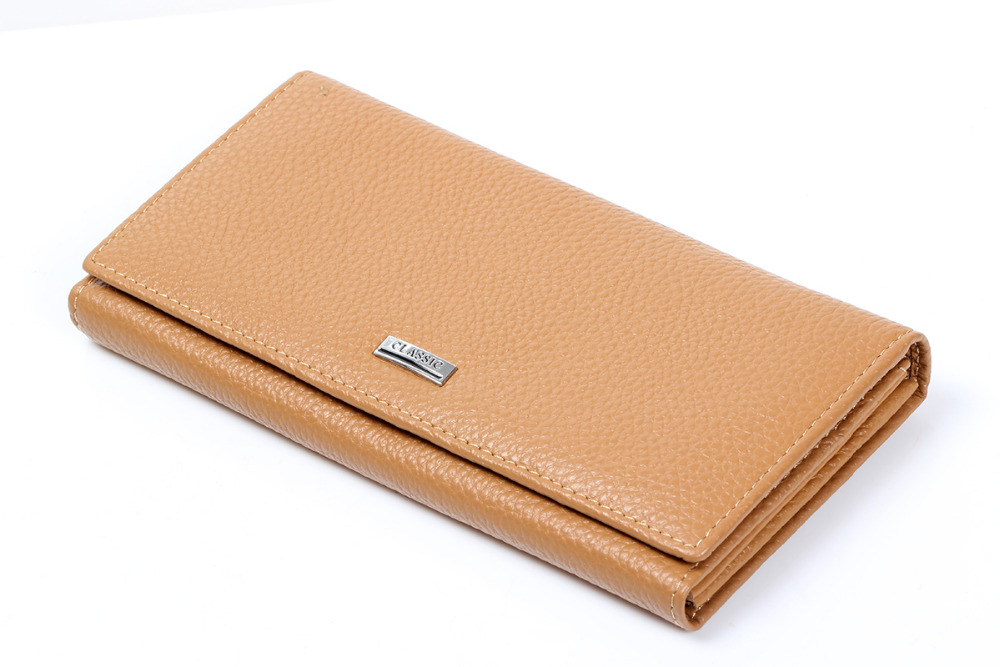 Fashion Womens Apricot Real Genuine Leather Handbag Wallet Long Day Clutches Female Lady Coin Purse Card Holder  Dollar price bemoreal genuine leather women wallets lady clutches card holder female zipper wallet fashion brand coin keeper sweet long purse