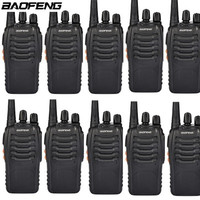 10PCS BAOFENG BF 888S Walkie Talkie 16CH 400 470MHZ 2 3KM Ham Transceiver Communicator Outdoor Activity Equipment Camping Climb
