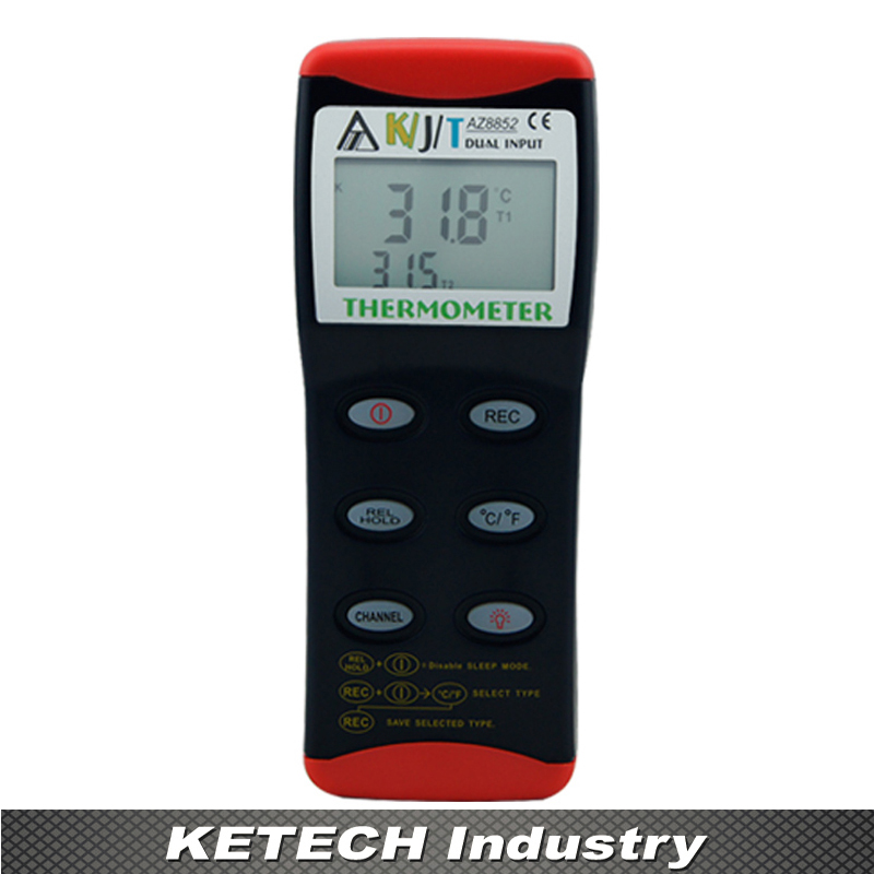 AZ-8852 Dual Input K/J/T Type Thermometer Thermocouple Two Channel Temperature
