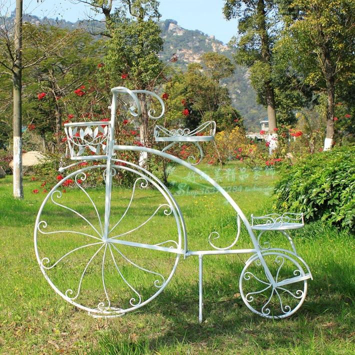 Hierro forjado bicicleta accesorios para el hogar for Mobiliario para el jardin