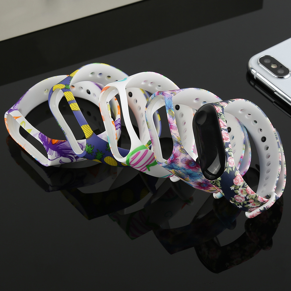 For Xiaomi Mi Band 4 Wrist Strap For Xiaomi Mi Band 3 Sport Silicone Bracelet For Band3 4 Smart Watch Bracelet Smart WristStrap