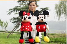 a pair lovely mickey mouse toys new cute boy mickey and red girl minne dolls gift about 60cm