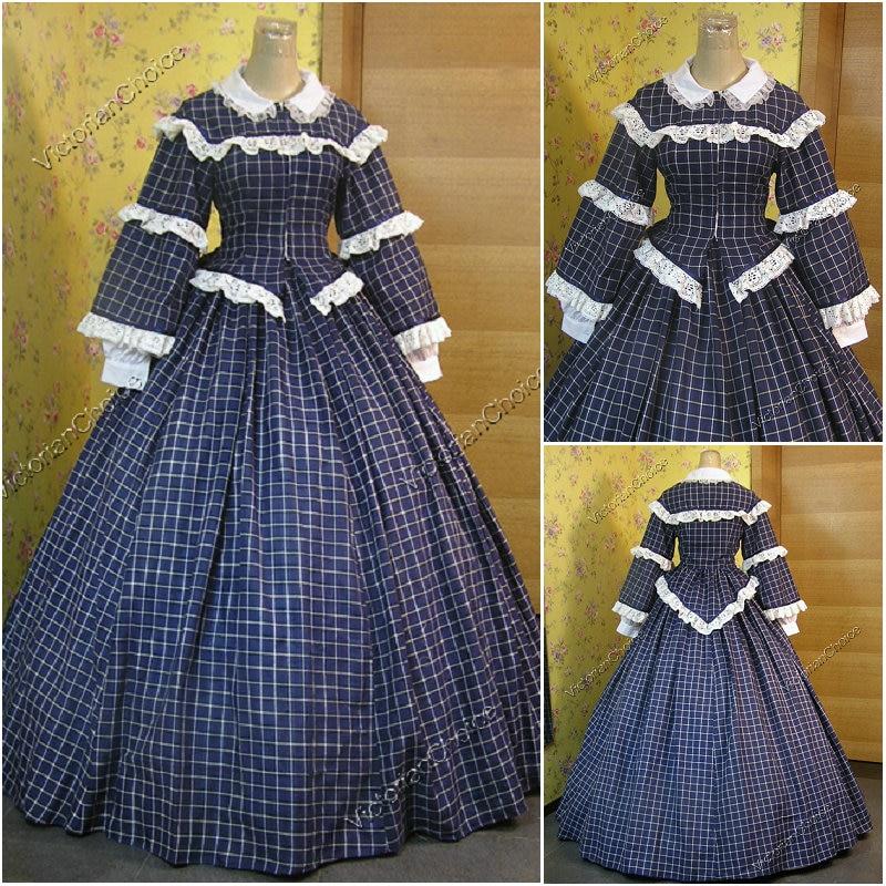 Historicalcustomer 1800s Victorian Dress 1860s Civil War Halloween Gothic