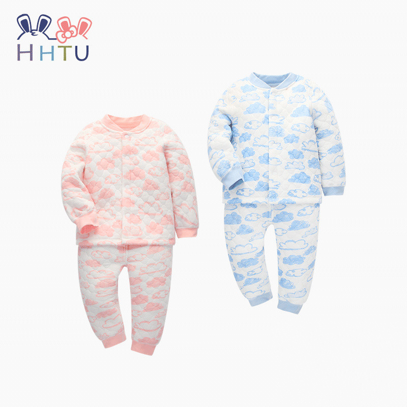 HHTU Baby Girls Boys Children Clothing Sets Casual Tracksuit Infant Toddler Newborn Clothes T Shirt Pants