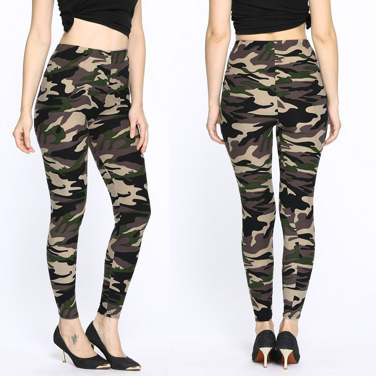 2018 Camouflage Vrouwen Hoge Elastische Spandex Leggings Leggings Herfst Lente Camouflage Vrouwen Leisure Camouflage Broek