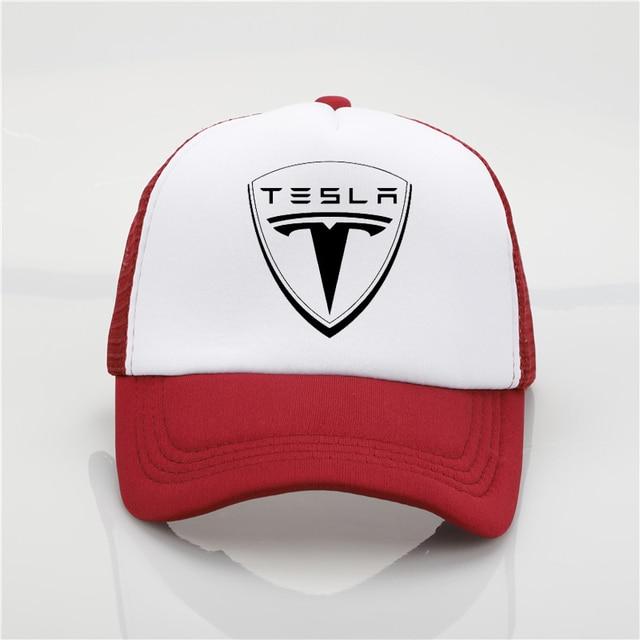 2018 Fashion Hat Tesla pattern printing net cap baseball cap Men women  Summer Trend Cap New 57d2aabdfb2