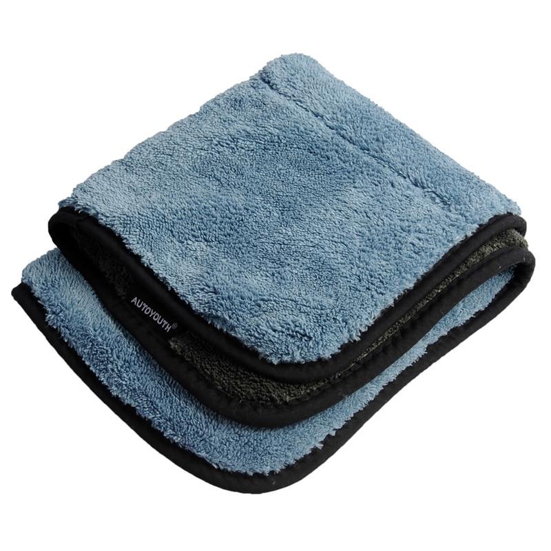 все цены на 800gsm 45cmx38cm Super Thick Plush Microfiber Car Cleaning Cloths Car Care Microfibre Wax Polishing Detailing Towels онлайн