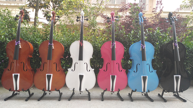 Multicolour Violoncellists  Children Cello Light White Black Rose Cello   2/4  1/4 1/8