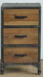 Американская мебель в стиле кантри индустрия Лофт антикварные деревянные книжные полки для старых железных торцевых стоек