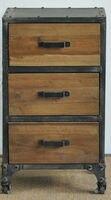 Американский мебель в стиле кантри промышленности чердак античный деревянные книжные полки для старых Железный столик стеллажи