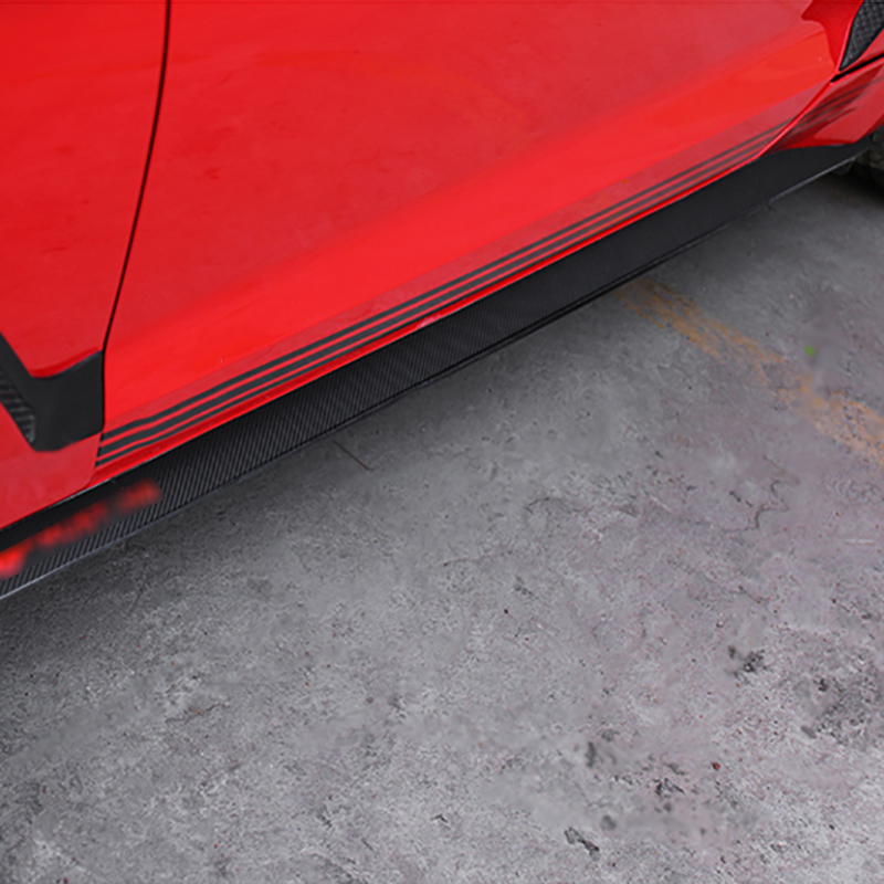 QHCP Door Side Skirt Protective Sticker Decoration Decal Stickers for Ford Mustang 2016+ Exterior Accessories FREE SHIPPING