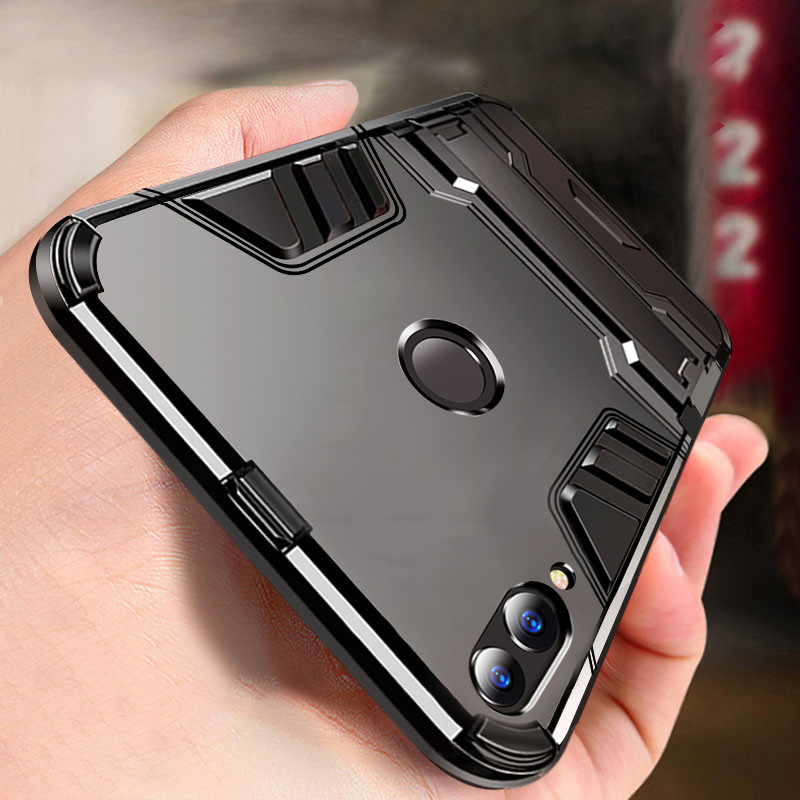 Case For Stand Back-Cover Hybrid Honor Dual Huawei With PC Shockproof Hard-Plastic TPU