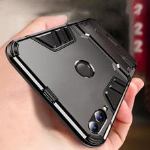 Case Voor Huawei Honor 8C Case Shockproof Tpu + Pc Hard Plastic Met Stand Dual Hybrid Cover Case Voor honor 8C Cover