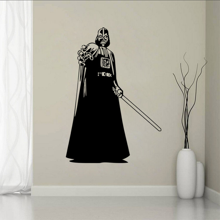1 PC 8 Types Star Wars Wall Decal Darth Vader Vinyl Sticker Boys Bedroom  Wall Decor Star Wars Poster Wall Stickers Home Decor  In Wall Stickers From  Home ... Part 82