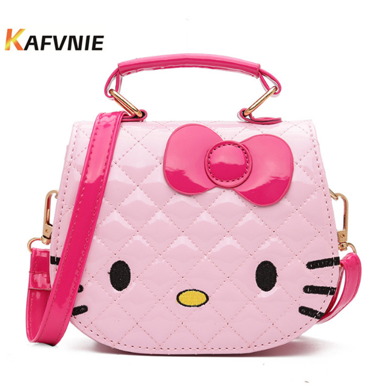 2018 New Kids Waterproof PU Cute Crossbody Children KT Girls Satchel Shoulder Bags Princess Handbag Lovely Messenger Bag new korea style fashion handbag cute kids children fashion brand princess party crossbody bag with gold chain for baby girls