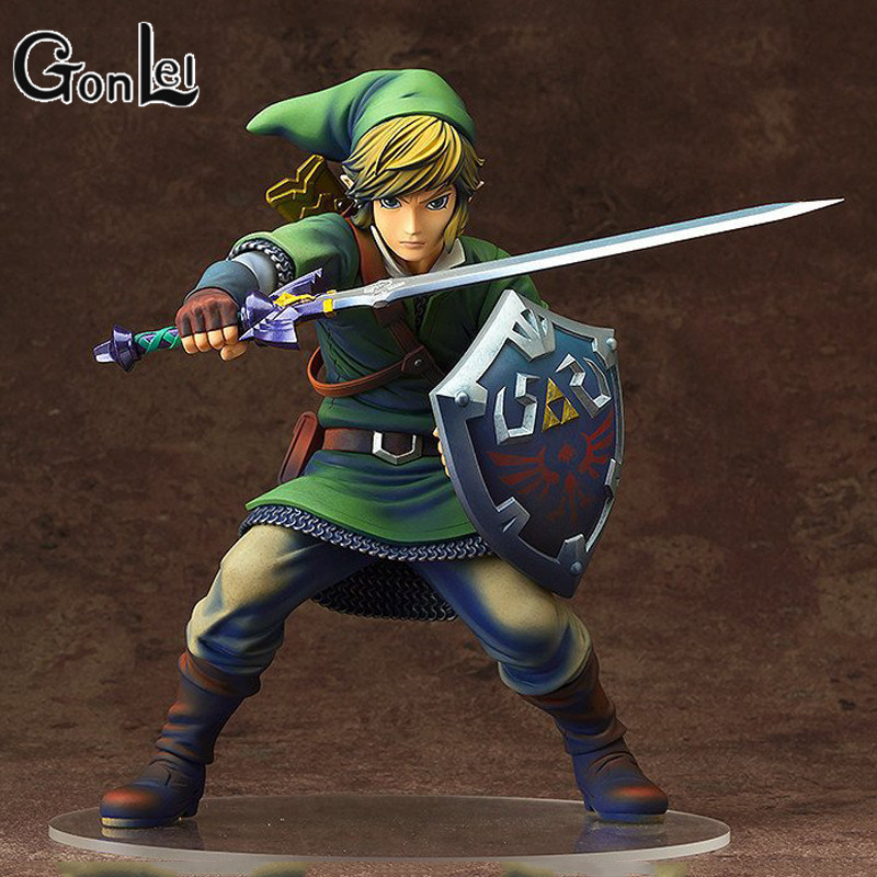 GonLeI1/7 Figure LINK toy Skyward Sword Shield the legend of Zelda PVC painted colored action Figures Collection Model doll 20cm spakct csy384 bike bicycle cycling riding pants black red size xl