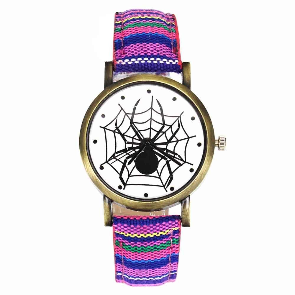 Pelottava musta hämähäkki web hyönteisten suunnittelu kellot - Miesten kellot - Valokuva 5