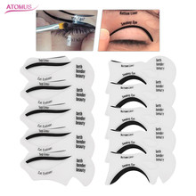 ATOMUS 10pcs DIY Eye Liner Accessories Reusable Eyeliner Stencil Template Card Makeup Tools Moldel Drawing Guide Styling Shaping