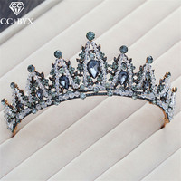 CC Tiaras And Crwons Hairbands Baroque Vintage Engagement Wedding Hair Accessories For Bride Elegant Jewelry Cubic