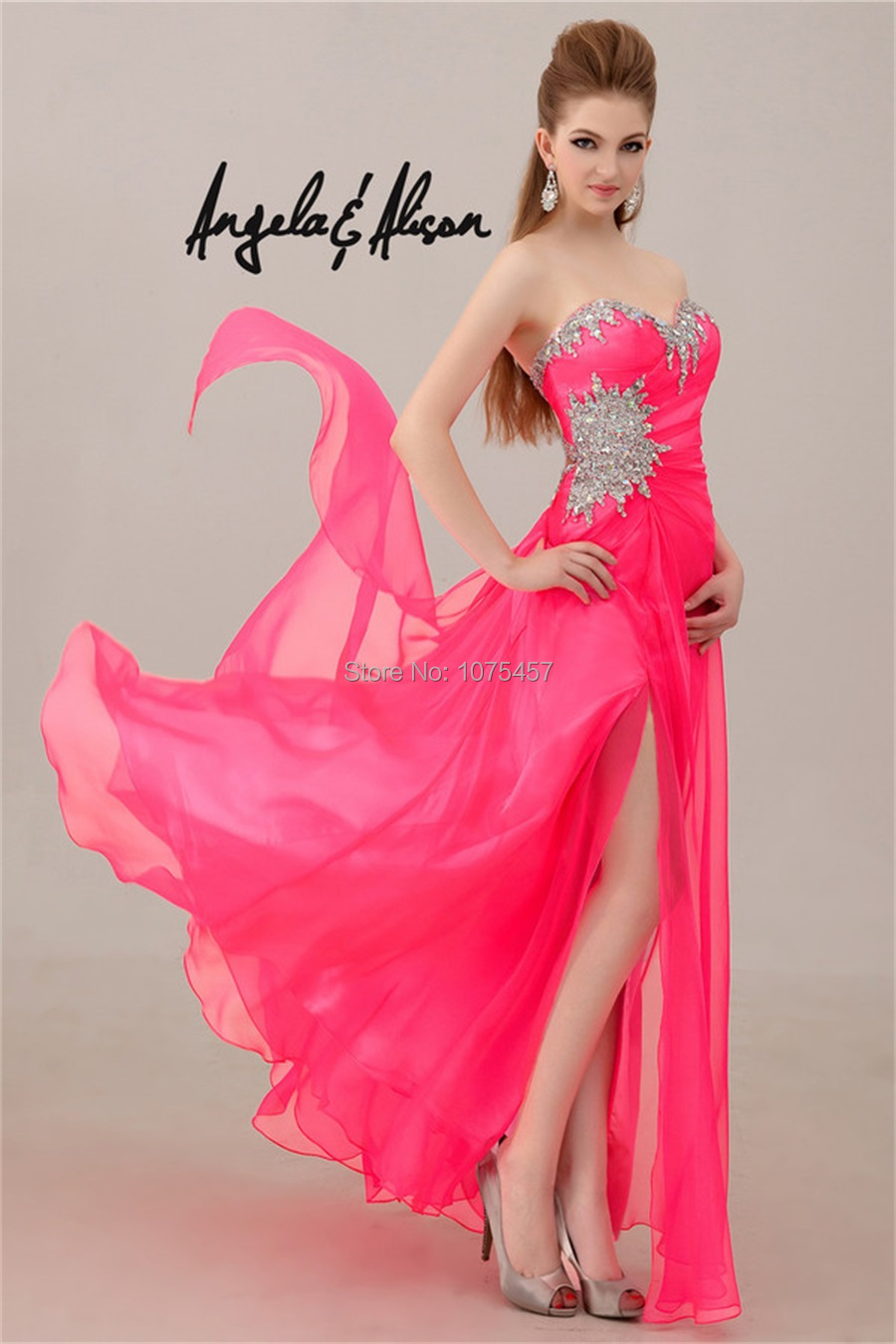 Online Get Cheap Hot Pink Prom Dresses with Straps -Aliexpress.com ...
