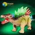 Mundo jurássico Dinaur Brinquedo Do Dinossauro Dos Desenhos Animados Modelo Animal Brinquedo Elétrico Brinquedos Educativos para As Crianças podem Andar Som Intermitente Presentes
