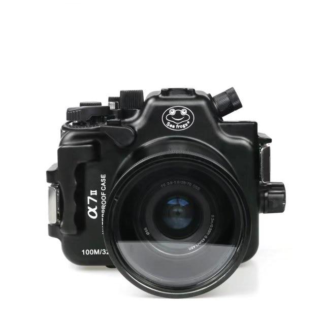 for Sony A7 II Mark II Meikon 100M/325ft underwater waterproof camera Aluminum housing case for canon g1x ii powershot meikon 60m 195ft underwater waterproof camera housing case g1x mark ii