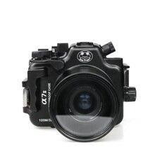 Для Sony A7 II Mark II Meikon 100 М/325ft подводные водонепроницаемая камера Алюминиевый корпус корпус