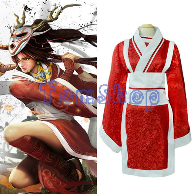LOL Akali Cosplay Uniform Suit Costume Full Set Women's Sexy Kimono  halloween PARTY costumes Custom-