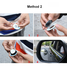 1PCS Universal function Car Blind Spot Mirror Outside blind spot mirror Interior View wheel Auxiliary