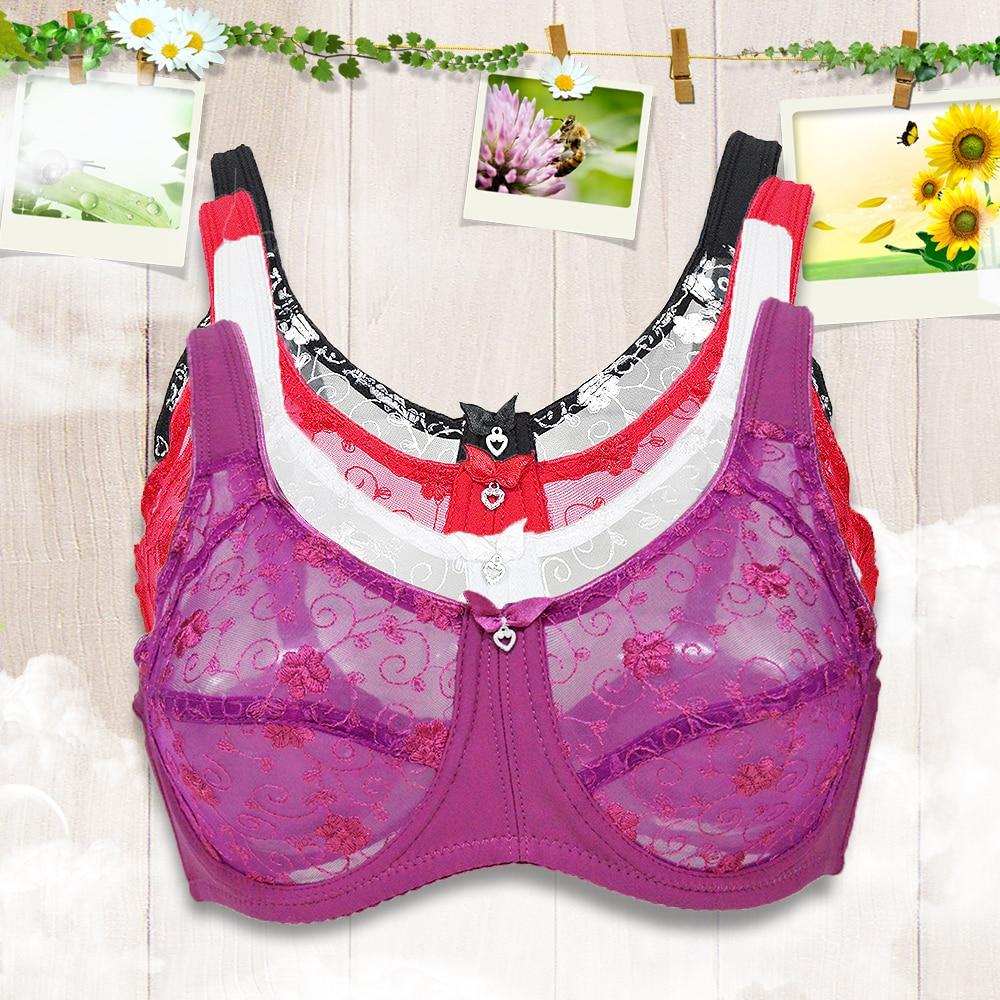 7c3b934db8d Lace Bralette Bras For Women Unlined Super Plus Size Transparent Sexy  Lingerie Underwear 80 85 90