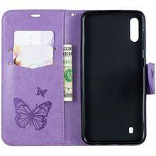 Card Slot Phone Case sFor Samsung Galaxy A10 A20 A30 A40 A50 A70 A6 A7 2018 for Capa J4 Plus J6 Prime Violet Frame DP07Z