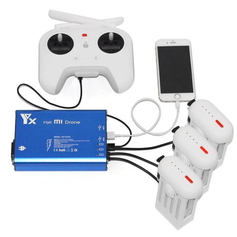 Xiaomi Mi Drone Батарея Зарядное устройство 5 в 1 параллельный Мощность центром интеллектуальных Батарея Зарядное устройство для Xiaomi Mi Drone (ЕС, США ...
