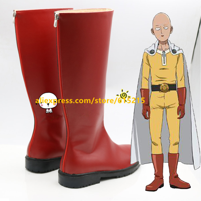New One Punch Man One-Punch Man Saitama Cosplay Boots Anime Shoes Custom Made