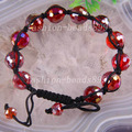 "New Fashion Crystal Faceted Loose Beads Adjustable Bangle Bracelet Free Shipping 7"" H1193"