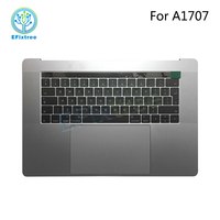 NEW A1707 Topcase Uk keyboard speaker mic battery touch bar assembly For Macbook pro 15inch A1707 UK palmrest Grey Silver