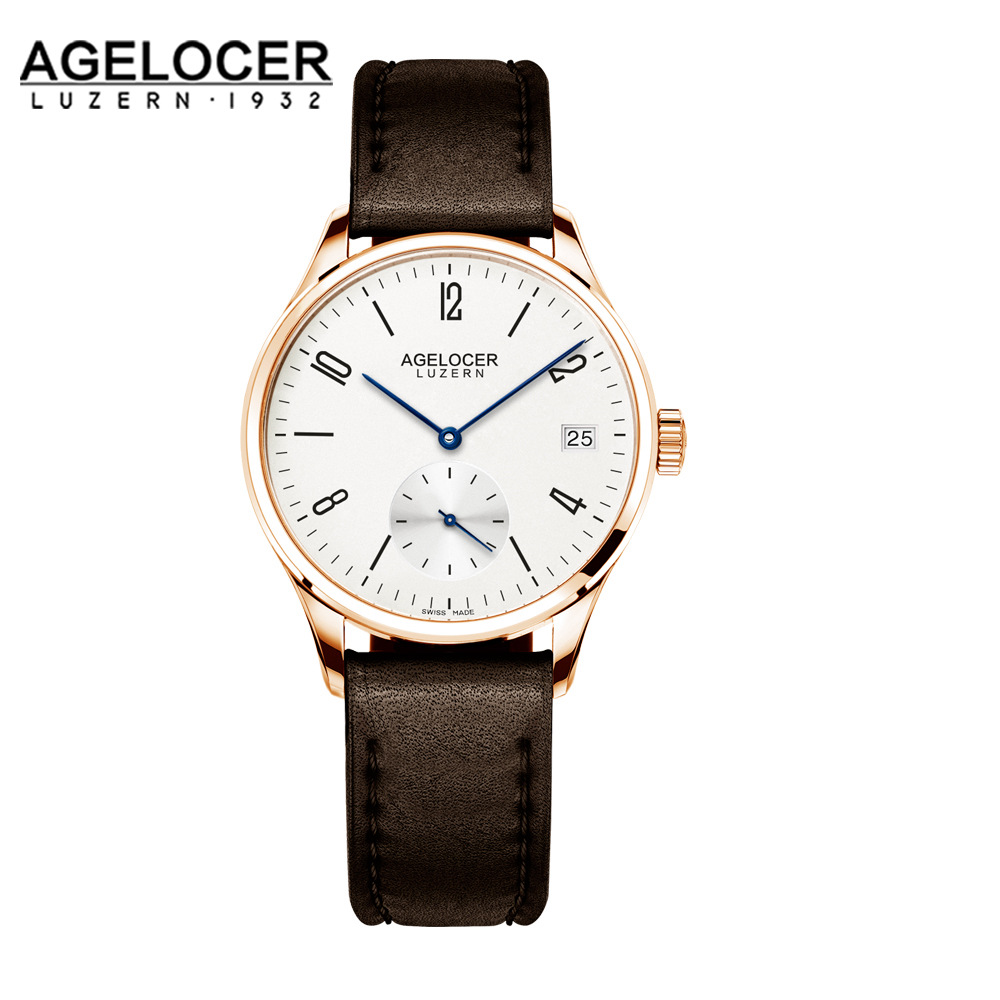 AGELOCER Famous Swiss Brand Women Dress Watches Ladies Luxury Casual Gold Automatic Watch Relogio Feminino Female Clock Hours binger genuine gold automatic mechanical watches female form women dress fashion casual brand luxury wristwatch original box