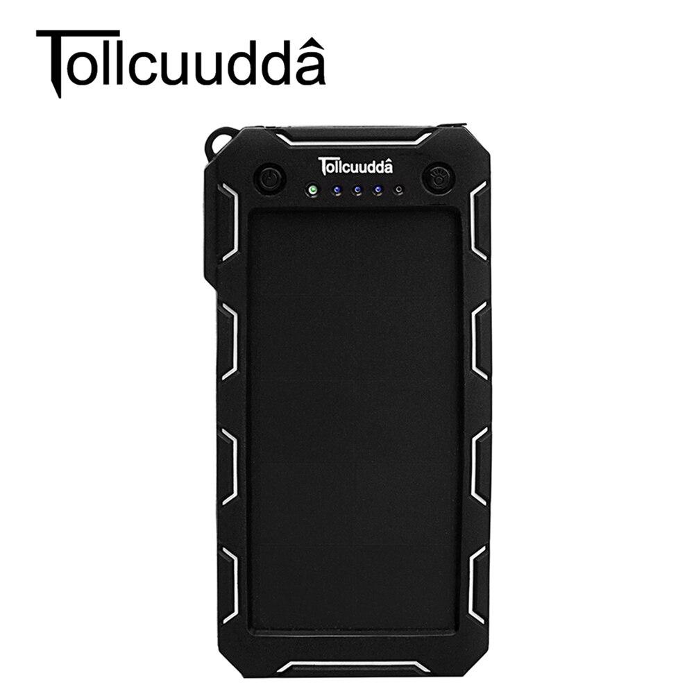 Poveda tollcuudda 15000 mah batería externa banco móvil cargador solar portátil