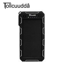 Tollcuudda 15000 mah externe batterie puissance pau banque solaire portable usb chargeur mobile powerbank chargeur pour iphone