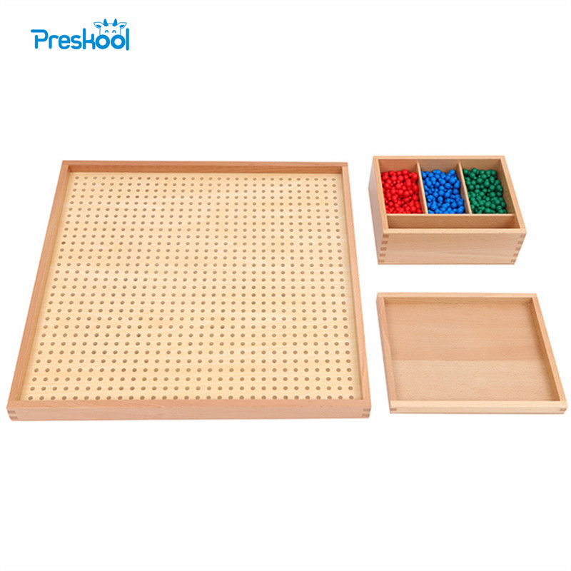 Preskool Montessori Education Kids Toy For Children Wood Peg Board Set Math Toy Training Game Brinquedos Juguets