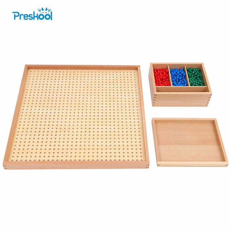 Preskool Montessori éducation enfants jouet pour enfants bois cheville conseil ensemble maths jouet formation jeu Brinquedos Juguets