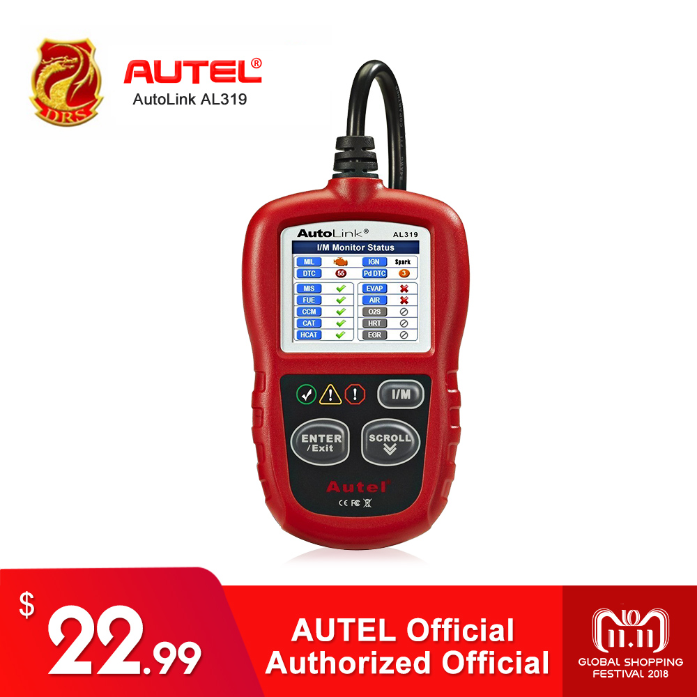 Autel AutoLink AL319 Auto Diagnostic Tool DIY Code Reader OBD2 Code Scan Tool View Freeze Frame Data Diagnostic-tool Car Scanner auto scanner code reader diagnostic tool for mercedes benz s
