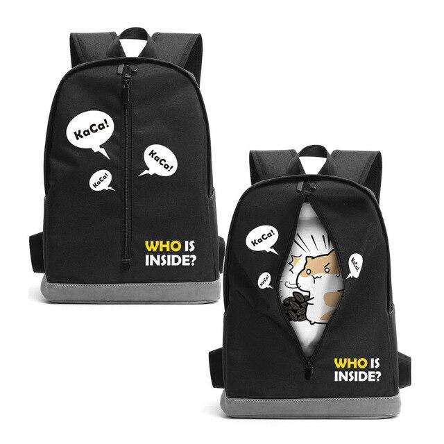 a2d8a1ca2fc3 Аниме мультфильм Хомяк скрыть молния Ткань сумка рюкзак сумки для школы кошелек  подарки