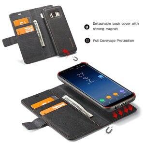 Image 5 - WHATIF S10 S10e чехол для Samsung Galaxy Note 10 9 S8 S7 edge чехол Магнитный Флип съемный кошелек задняя крышка для Galaxy S9 S9 plus