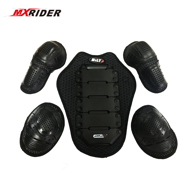 5Pcs Motorcycle MX Cycling EVA Motocross Shoulder Elbow Guard Knee Pad Protector