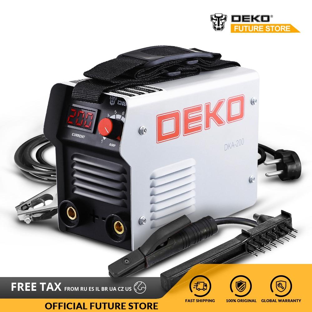 DEKO DC Inverter ARC Welder 220V IGBT MMA Welding Machine 120/160/200/250 Amp For Home Beginner Lightweight
